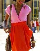 nowa sukienka h&m pink orange 42
