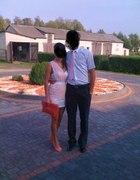Śliczna dwu kolorowa sukienka rozmiar 38 36