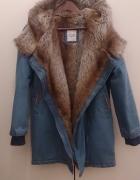 kurtka płaszcz jeansowy ROMWE