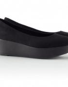 Czarne Baleriny balerinki na platformie cropp 38...