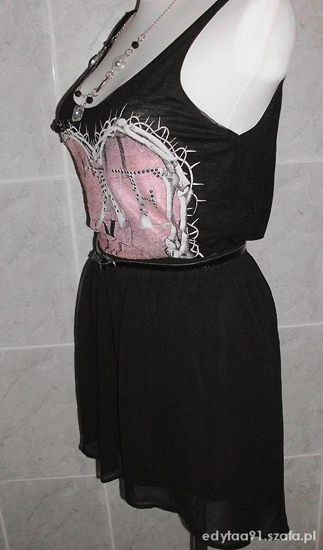 Spódnice Czarna asymetryczna mini