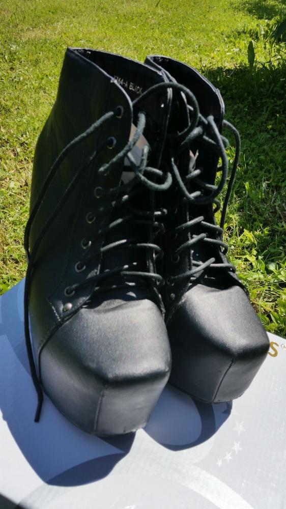 Czarne botki r 40 wkładka 25 i pół cm