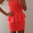 sukienka neon brzoskwinia DODA