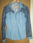 Koszula jeansowa koronka jeans 42