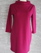 Tunika sukienka amarant L 40 fuksja