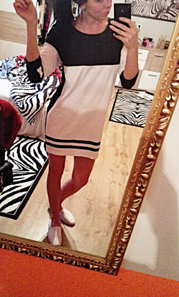 sukienka dresowa trapez sinsay xs s mega
