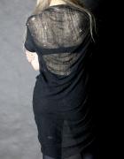 Rebellion shredded tshirt black...