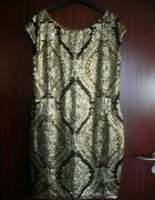 Suknia Reserved L cekiny złota wieczorowa