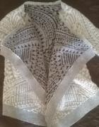 sweter srebrna nitka modny 38 M