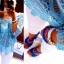 BIAŁE SPODNIE Z DZIURAMI I AŻUREK BABY BLUE