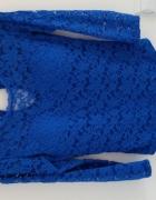 Body koronkowe kobalt
