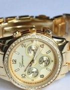zegarek złoty swarowskiego