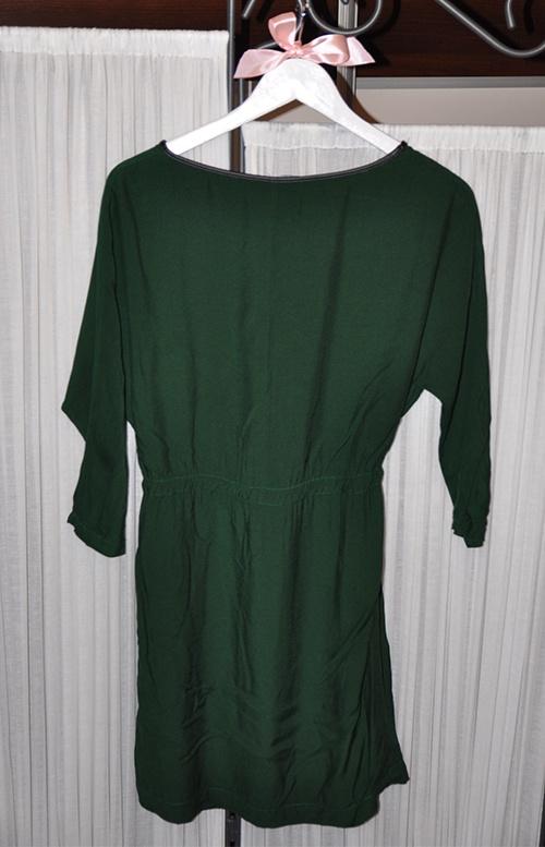 Sukienka Zara butelkowa zieleń 36 S zielona ZARA w Suknie i