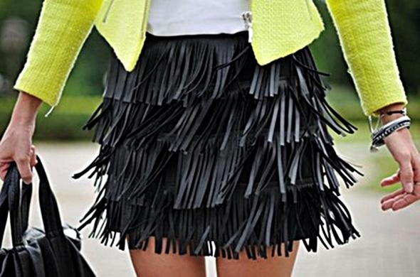 Spódnice spodnica z fredzlami s mega czarna river