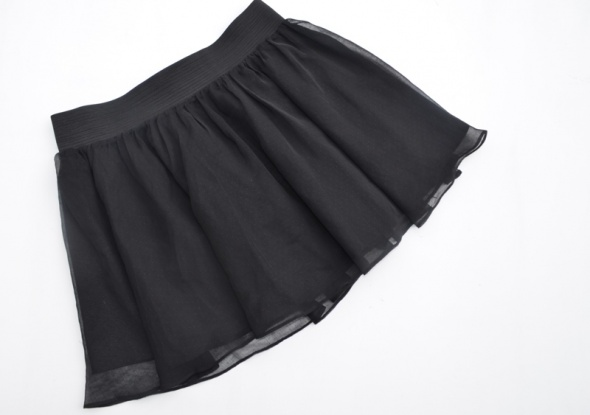 Spódnice H&M SPÓDNICA ROZKLOSZOWANA czarna 38x40