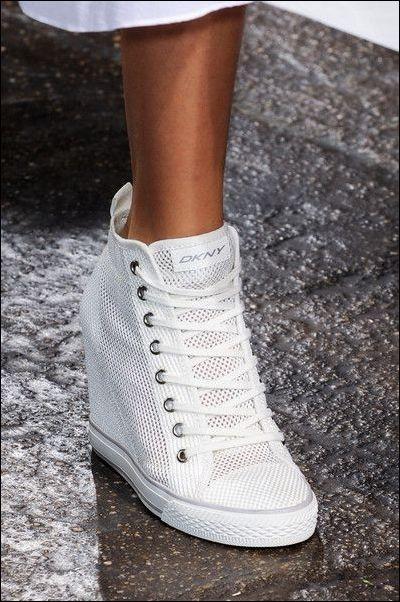 52d70c9f Ażurowe trampki sneakersy na koturnie w Obuwie - Szafa.pl