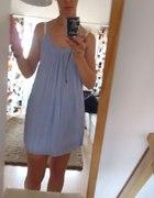 sukienka tunika w błękitnym kolorze s m