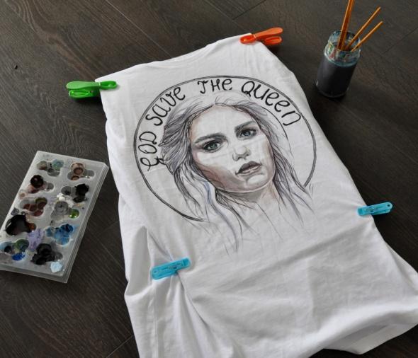 ręcznie malowana koszulka