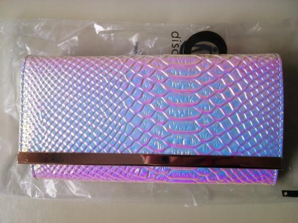 portfel Asos snake holograficzny