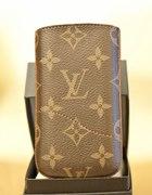 Etui na telefon Louis Vuitton brązowe
