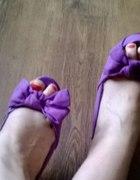 Sandały koturny 38 fioletowe