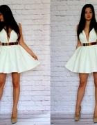 mega rozkloszowa biała sukienka