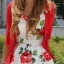 sukienka w czerwone kwiaty róże