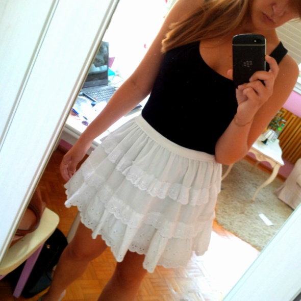 Mój styl White skirt