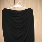 Pull Bear spódnica spódniczka drapowana czarna 38M
