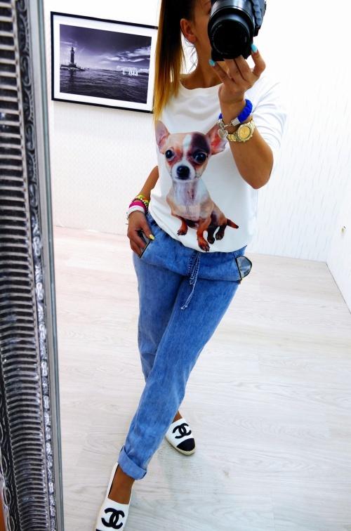 Mój styl Jeans łączony z dresikiem