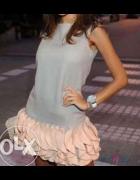 Sukienka Siwiec falbanki Mini XS 34 Kupię