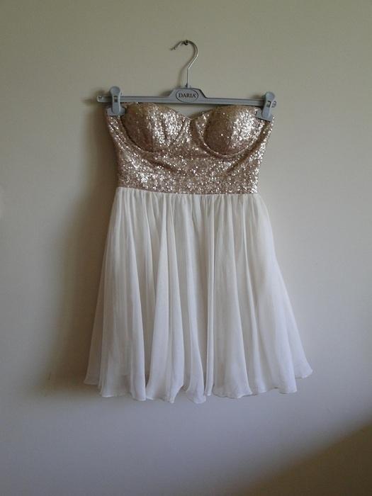 sukienka z cekinkami tiulowa...