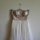 sukienka z cekinkami tiulowa