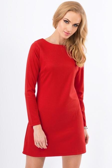 35d58ba2e4166d czerwona trapezowa sukienka w Suknie i sukienki - Szafa.pl