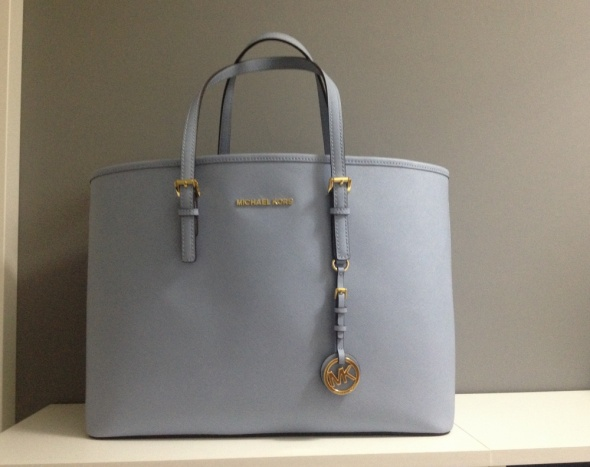 Michael Kors pale blue jet set travel