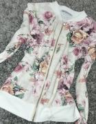 Bluza kwiaty zip