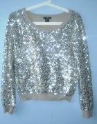 HM sweter cekiny cekinowy beżowy