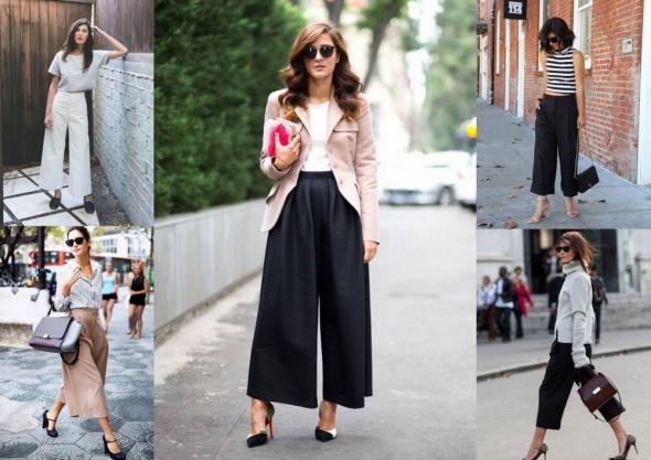 Blogerek Spodnie culotte