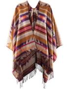 ponczo H&M aztec poncho azteckie szal