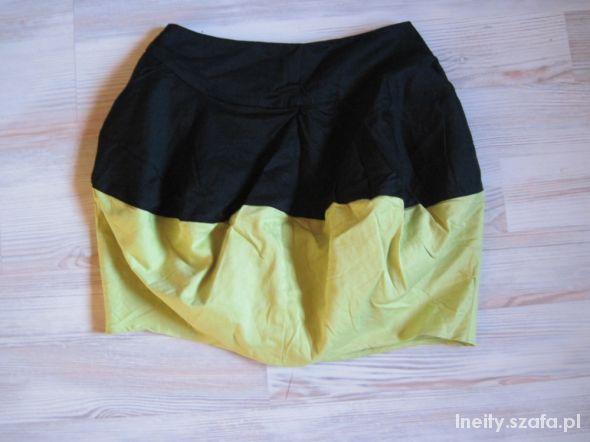 Spódnice Spodniczka bombka czarno zielona