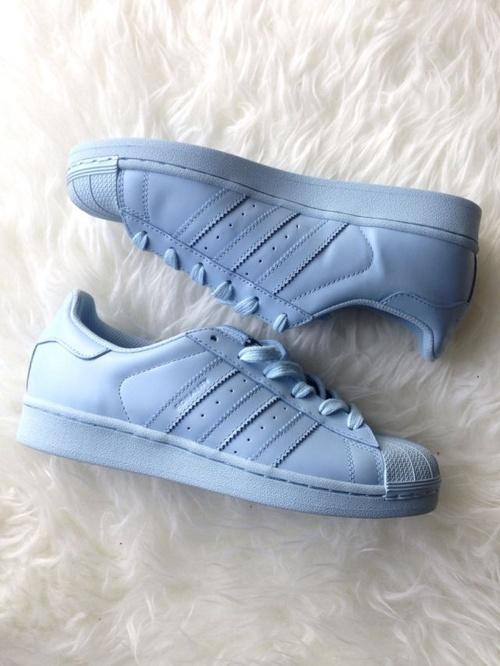 Sportowe Adidas Superstar Supercolor Pharrell sky blue