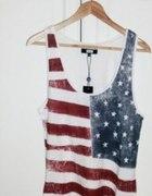 bluzka z amerykańską flagą