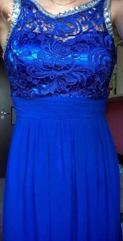 Długa sukienka z koronkowym gorsetem...