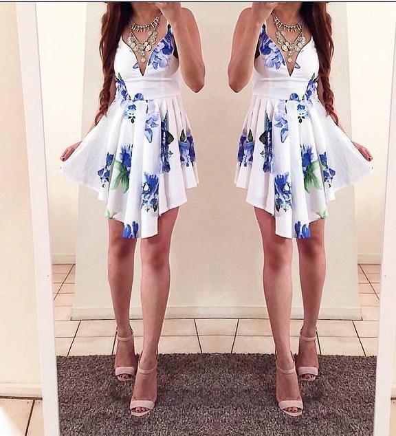 Asymetryczna sukienka FLORAL NOWOŚĆ