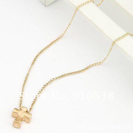 Naszyjnik KRZYŻ wisior japan Style gold