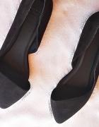 balerinki czarne asymetryczne
