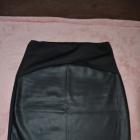 Nowa czarna spódnica ołówkowa z imitacją skóry M L