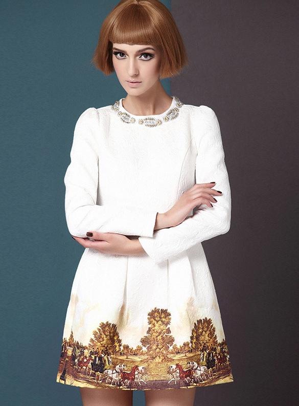 b555bb434e Sukienka rozkloszowana koktajlowa biała mini 34 XS w Suknie i ...