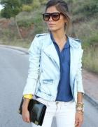 Ramoneska jeansowa Zara
