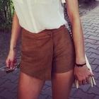 Spodenki zamszowe bershka Spódnico spodnie